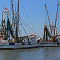 Shem Creek Shrimpers by Suzanne Gaff