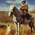 Shepherd And His Dog by Kai Saarto