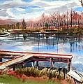 Shepherd Mountain Lake In Winter by Kip DeVore