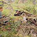 Shepherds by Erik Theodor Werenskiold