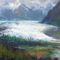 Shifting Light - Matanuska Glacier by Talya Johnson