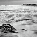 Shifting Sands On Ocracoke Outer Banks Bw by Dan Carmichael