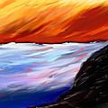 Shining Sea - Abstract Art by Eliza Donovan