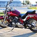 Shinny Red Bike by Linda Phelps