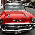 Shiny Red Chevrolet by Nancy De Flon