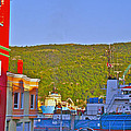 Ship At The End Of Water Street In Saint John's-nl by Ruth Hager