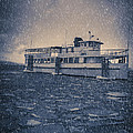 Ship In A Snowstorm by Edward Fielding