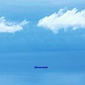 Ship In Straits Of Gibraltar, Spain by Ken Welsh
