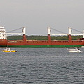 Ship Traffic At Casco Bay by Christiane Schulze Art And Photography