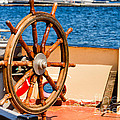 Ship Wheel by Les Palenik