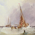 Shipping In The Solent 19th Century by George the Elder Chambers