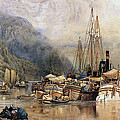 Shipping On The Hudson River by Samuel Colman