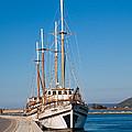Ships At Lefkada by Gabriela Insuratelu