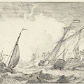 Ships At Sea, Ludolf Bakhuysen by Quint Lox