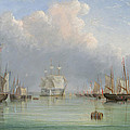 Ships Off Ryde by Arthur Wellington Fowles