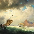 Ships On Stormy Ocean by Pg Reproductions