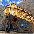 Shipwreck At Smugglers Cove by Dominic Piperata