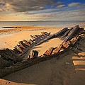 Shipwreck On Cape Cod Beach by Dapixara Art