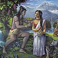 Shiva And Parvati by Vishnudas Art