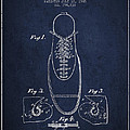Shoe Eyelet Patent From 1905 - Navy Blue by Aged Pixel