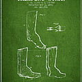 Shoes And Boots Crimping Board Patent From 1881 - Green by Aged Pixel