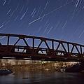 Shooting Star Over Bridge by Dan Sproul