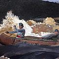 Shooting The Rapids Saguenay River by Philip Ralley