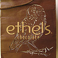shopping bag made over- Ethels Chocolate by Alfred Ng