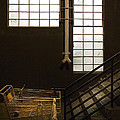 Shopping Cart Stairs At Window by Peter Tellone