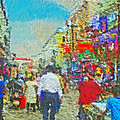 Shopping District In Varanasi India by Digital Photographic Arts