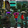Shopping In The Rain - Knoxville by David Patterson
