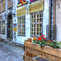 Shops And Flower Boxes by Claudio Bacinello