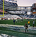 Shoveling Before The Game by Mike Martin