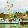 Shrimp Boat At Dock by Jill Ciccone Pike