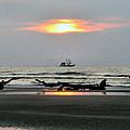 Shrimp Boat At Sunrise by Carol Luzzi