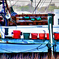 Shrimp Boat Buckets by Sharon M Connolly