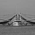 Shrimp Boat - Bw by Susie Hoffpauir