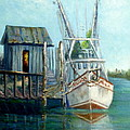 Shrimp Boat Paintings by Amber Palomares