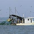 Shrimp Boat Towing Nets  by Bradford Martin