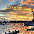 Shrimp Boats At Sunset by Benanne Stiens