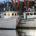 Shrimp Boats Reflecting by Dale Powell