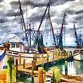 Shrimp Boats by Lynne Jenkins