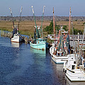 Shrimp Boats Of Darien by Patrick M Lynch