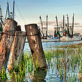 Shrimp Dock Pilings by Scott Hansen