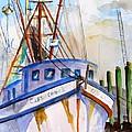Shrimp Fishing Boat by Carlin Blahnik CarlinArtWatercolor