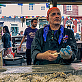 Shucking Oysters In The French Quarter by Kathleen K Parker