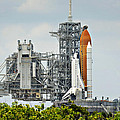 Shuttle Endeavour Is Prepared For Launch by Ricky Barnard