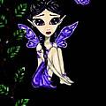 Shy Violet Fairy by Bronwen Skye