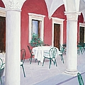 Sibenik Cafe Croatia by Jan Matson