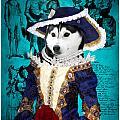 Siberian Husky Art Canvas Print - Baroness by Sandra Sij
